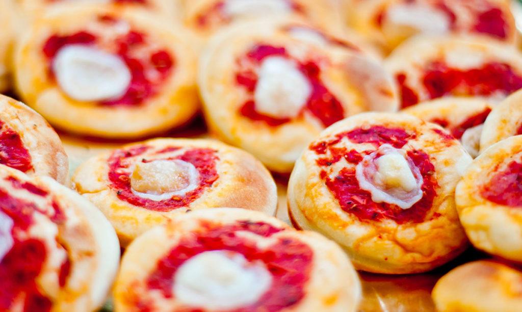 pizzette con yogurt greco