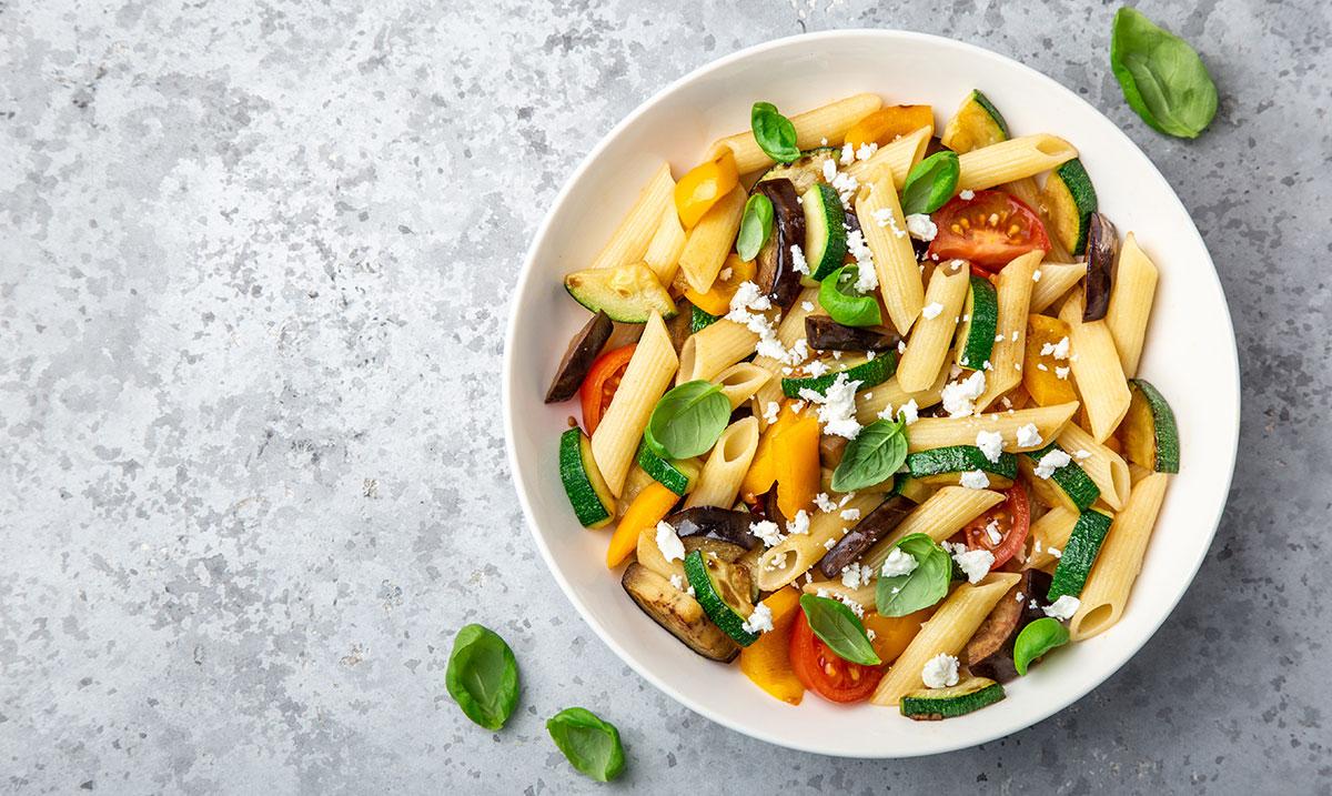 pasta con feta e zucchine