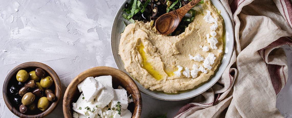 Feta e Hummus, due specialità che stanno benissimo insieme