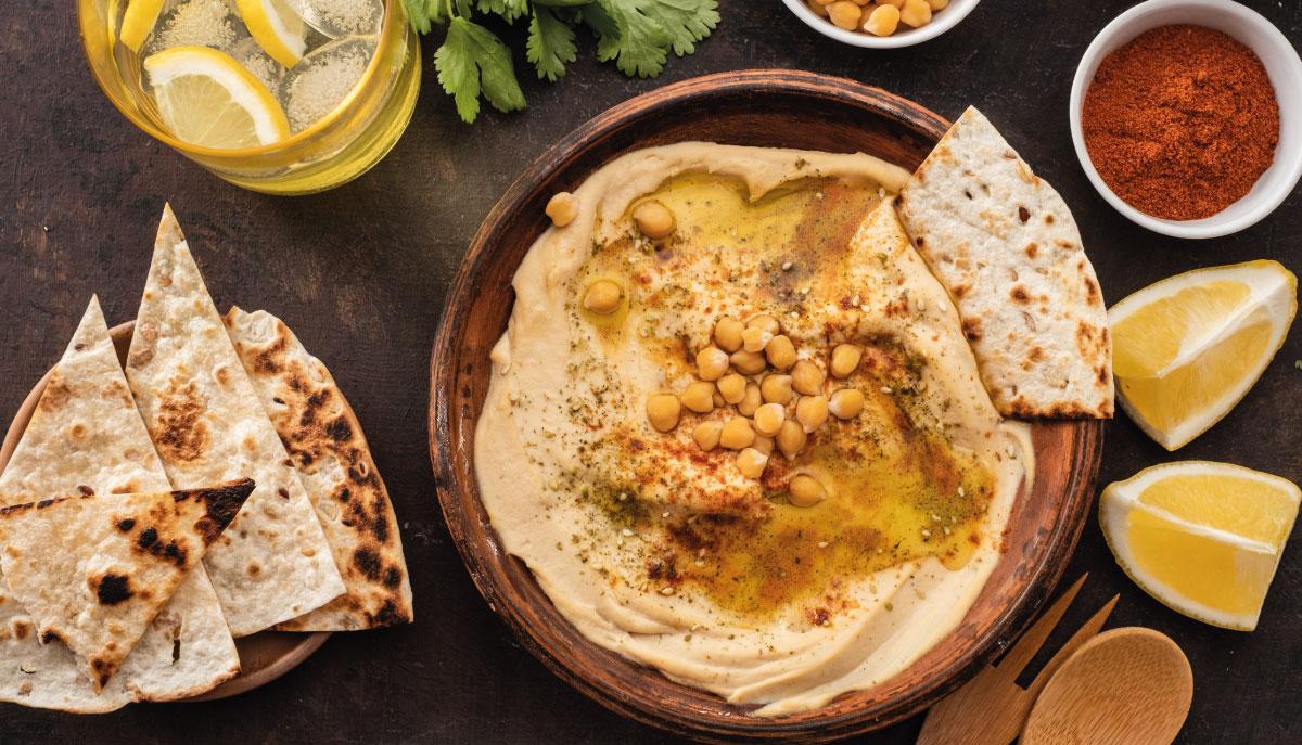 hummus con salsa tahina