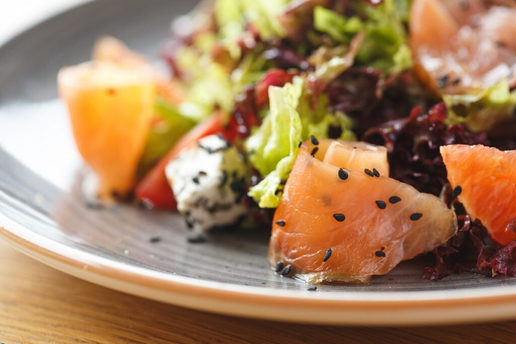 insalata feta e salmone