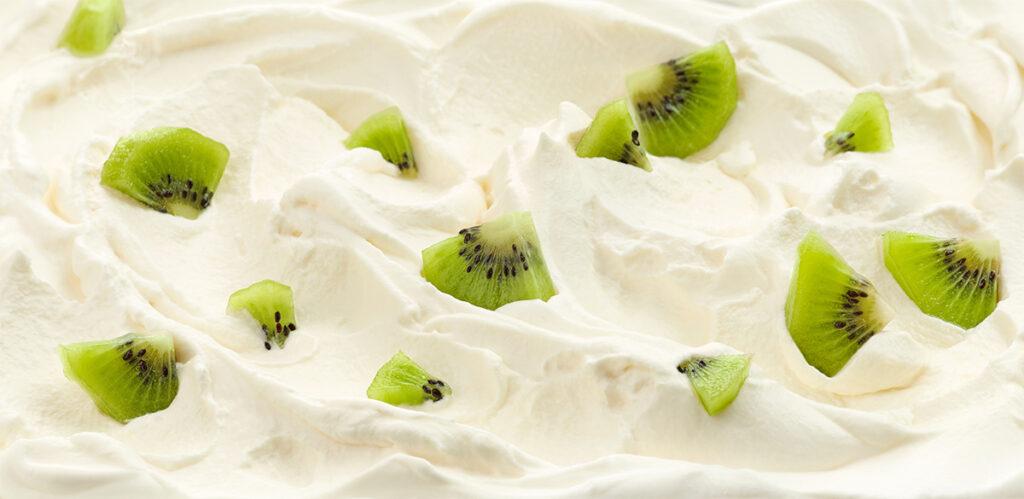 Torta di yogurt e kiwi
